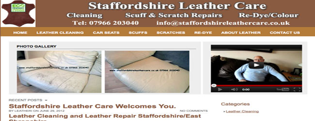 leather sofa cleaning stafford