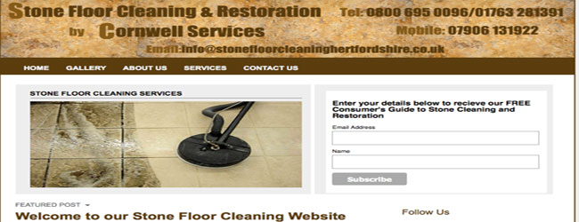 stone floor cleaning hertfordshire